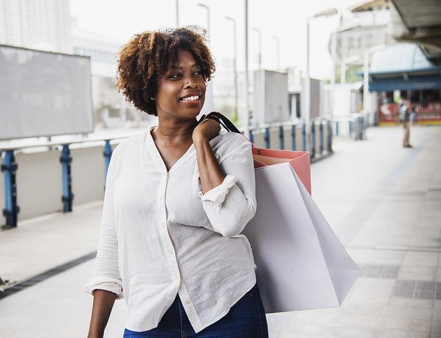 afričanka po nákupech