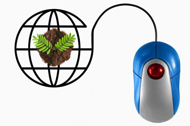 myš spojená se světem